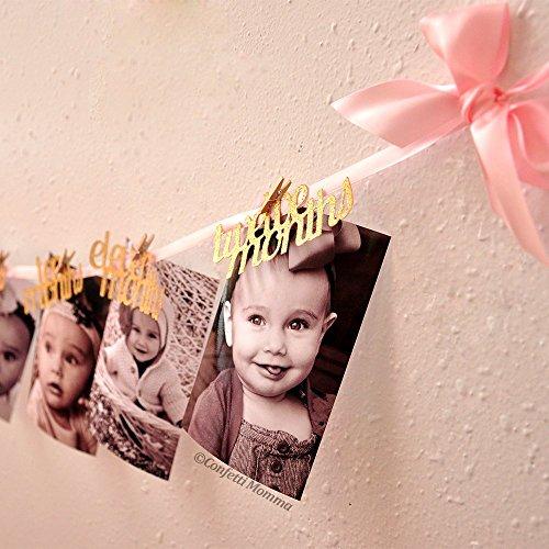 12-Months-Photo-Banner-Pink-and-Gold-First-Birthday-Decorations-First-Birthday-Garland-0