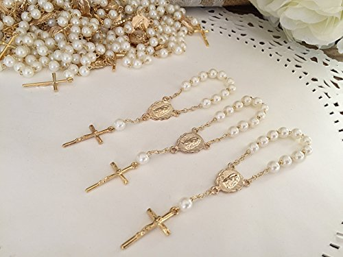 25-Gold-Plated-Mini-Rosary-for-Baptism-Favors-in-ivory-color-Faux-pearls-recuerdos-de-bautizo-color-Beige-christening-Favors-off-white-color-Gold-plated-communion-favors-wedding-mini-rosaries-0