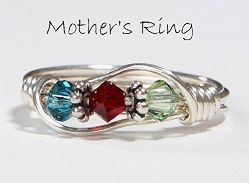 3-stone-Mothers-Birthstone-Ring-Personalized-Sterling-Silver-Moms-Family-RingThree-Swarovski-multistone-Crystals-Mothers-Day-Christmas-birthday-Valentines-day-anniversary-new-baby-0