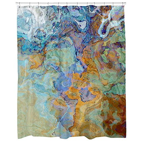 Abstract-art-shower-curtain-blue-blue-green-orange-and-brown-abstract-art-Bridge-0