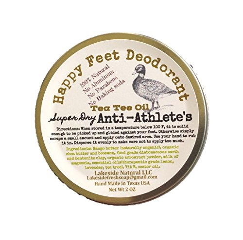 All-Natural-Happy-Feet-Deodorant-Super-Dry-Diatomaceous-Earth-with-Tea-Tree-Oil-and-Milk-of-Magnesia-MOM-2-oz-Athletes-Foot-Prevention-Bar-0