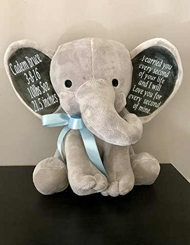 An-Elephant-Never-Forgets-Personalized-Plush-9-Memorial-Stuffed-Animal-Elephant-Bear-Memoriam-Keepsake-Remembering-the-Loss-of-a-Loved-One-0