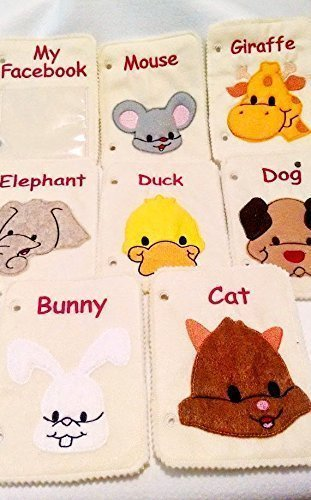 Animal-Face-felt-quiet-book-7-animals-pages-plus-cover-page-118-0