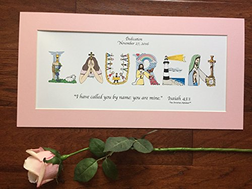 Baby-Dedication-Gift-for-girls-or-boys-Personalized-10x20-matted-ready-to-frame-free-shipping-option-0