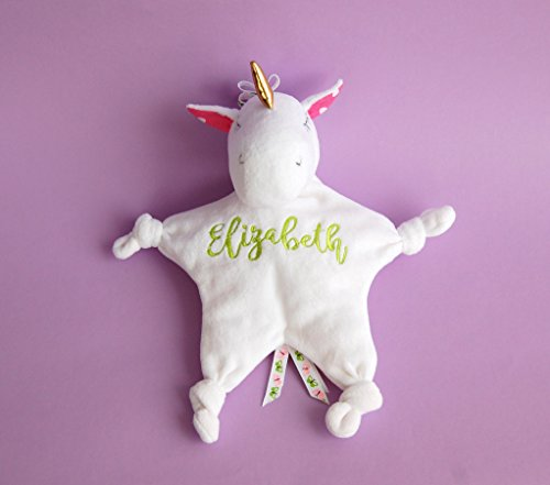 Baby-Unicorn-Personalized-Toy-Mini-Security-Blanket-0