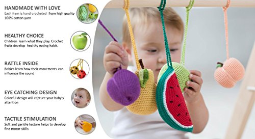 Baby Gym Toys Fruits Set Of 5 Hanging Toys Play Gym Toys Crib