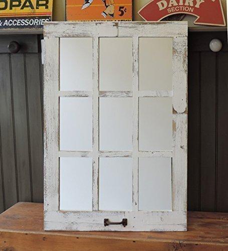 Barn-Window-Pane-Mirror-Homesteader-Style-235-inch-X-3325-inch-0