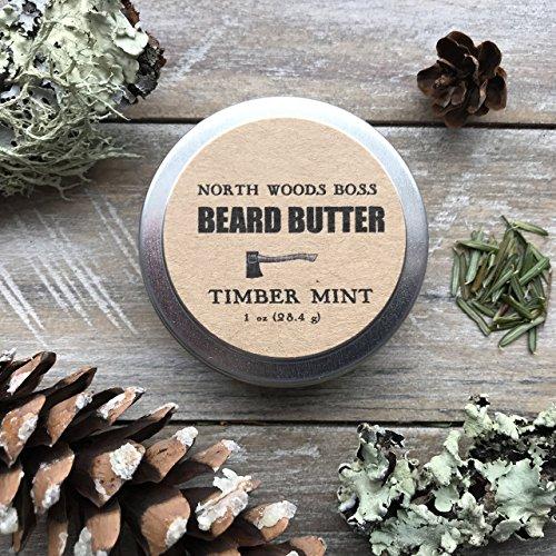 Beard-Oil-Beard-Butter-in-Timber-Mint-1-Ounce-Handmade-in-Maine-with-Organic-Oils-Better-than-Beard-Oil-0