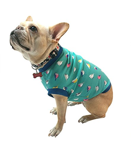 Birds-Girl-Dog-Tshirt-for-French-Bulldogs-Size-Small-up-to-24-lbs-0