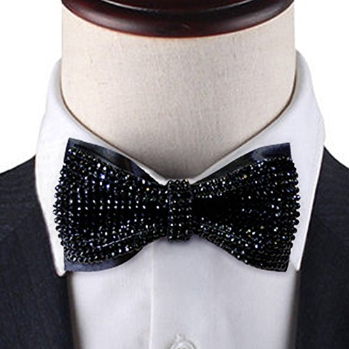 Black-Crystal-bow-tie-2-layers-Rhinestones-bow-tie-black-bow-tie-Bling-bow-tie-bow-tie-black-black-bow-tie-for-ment-0