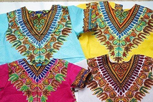 Black-History-Month-Baby-Dashiki-Newborn-to-2T-Blue-Yellow-Pink-White-African-Wax-Cotton-Toddler-Top-0
