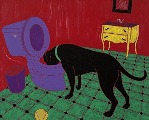 Black-Labrador-Heavy-Drinker-Lab-Dog-Potty-Bathroom-Art-Print-by-Angela-Bond-0