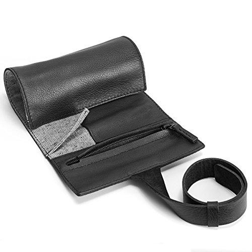e9458a3cdbe52 Black Leather Watch Roll with Custom Slots. Watch Case, Handmade Watch  Holder. Custom Leather Travel Watch Holder. Roll Up Monogrammed Pouch | ...