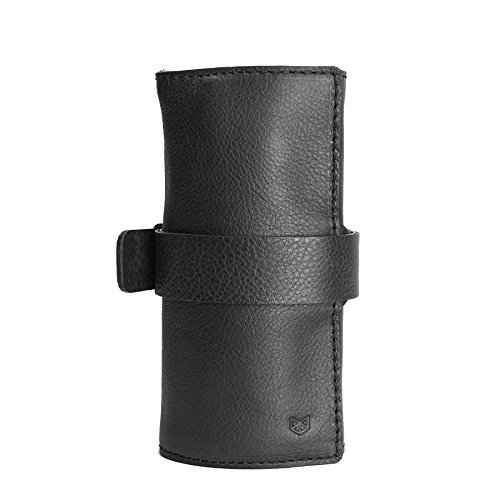 Black-Leather-Watch-Roll-with-Custom-Slots-Watch-Case-Handmade-Watch-Holder-Custom-Leather-Travel-Watch-Holder-Roll-Up-Monogrammed-Pouch-0