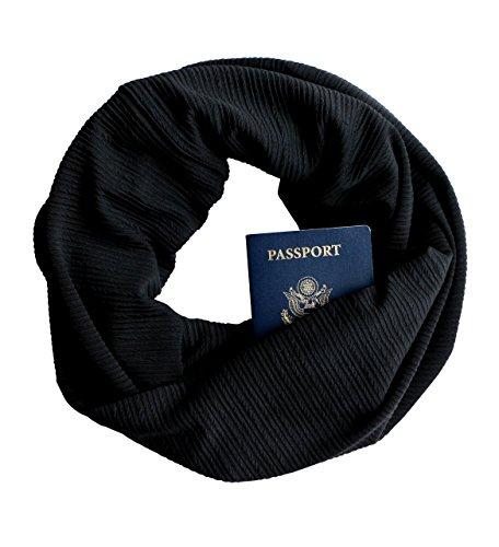 Black-Ribbed-Knit-Infinity-Scarf-with-Zippered-Secret-Pocket-0