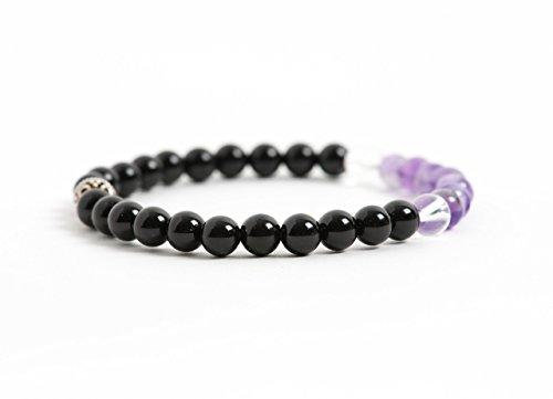 Black-Tourmaline-Bracelet-Protection-and-Energy-Bracelet-Amethyst-and-Clear-Quartz-Natural-Gemstone-Jewelry-0