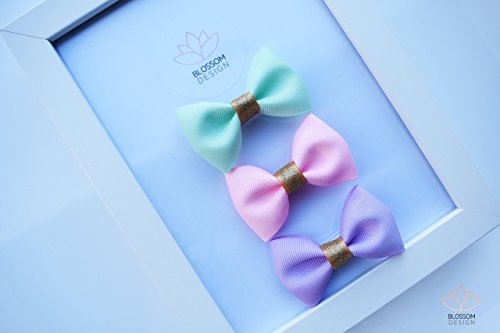 Blossom-Design-Baby-Girls-Hair-Bows-Alligator-Clips-for-Infants-Babies-Toddlers-Girls-Kids-Teens-25-Inch-Set-of-3-0