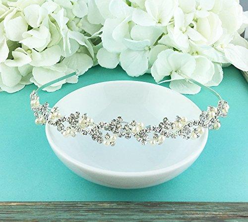 Bridal-Rhinestone-Crystal-and-Swarovski-Pearl-Wedding-Headband-0