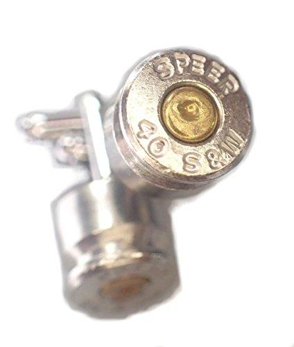Bullet-Casing-Cufflinks-2nd-Amendment-Jewelry-40-Caliber-HAND-MADE-bullet-cufflinks-two-tone-Nickel-Silver-w-Brass-Center-Bullet-Cufflinks-SPEER-0