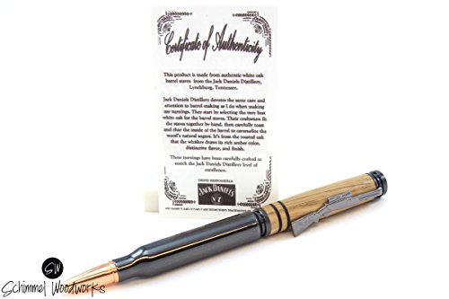 Bullet-Pen-Made-with-Gun-Metal-Pen-top-made-from-Jack-Daniels-Whiskey-barrel-wood-0