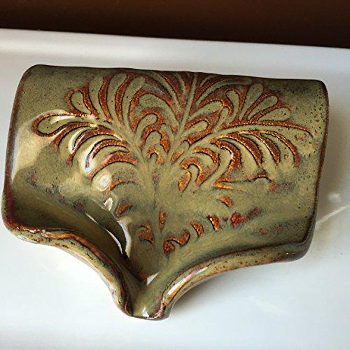 Ceramic-Self-Draining-Soap-Dish-in-Waterfall-Brown-FREE-SHIPPING-0