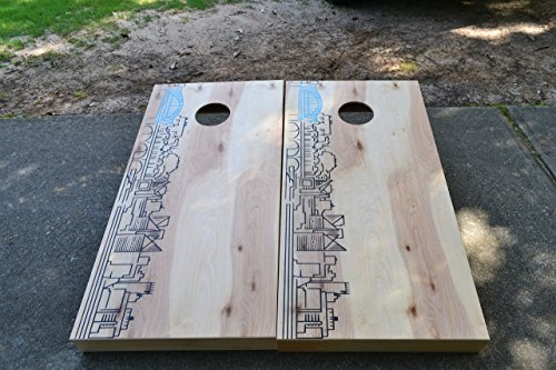 Chattanooga Skyline Custom Stained Cornhole Boards Set ...