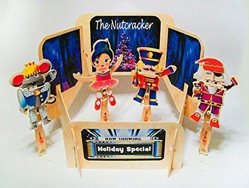 Christmas-Nutcracker-Wooden-Puppet-Theater-with-Four-Wooden-Nutcracker-Puppets-0