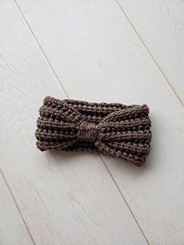 Chunky-Knit-Top-Knot-Ear-Warmer-Brown-0