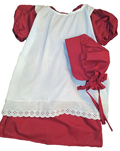 Civil-War-Reenactment-Girls-Toddler-Sizes-2-3-4-or-2T-3T-4T-Prairie-Pioneer-Dress-Bonnet-Pentafore-Set-0