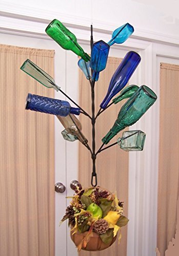 Classic-Hanging-Southern-12-Bottle-Tree-PORCH-or-Garden-Wine-Bottle-Yard-and-Garden-Decor-FREE-SHIP-lower-48-0