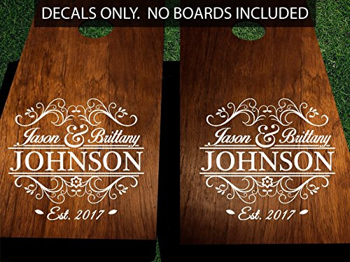 Cornhole-Decals-for-Wedding-Customized-with-Names-and-Date-0
