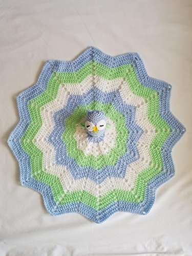 Crochet Boy Owl Lovey Security Blanket Crochet Blanket