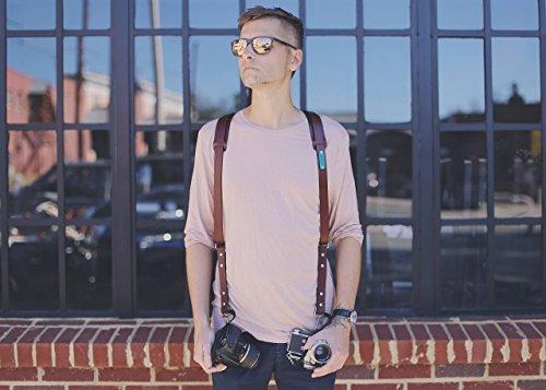 Custom-Double-Camera-Harness-Dual-Camera-Harness-Real-Leather-shoulder-pads-Multicamera-Strap-Handmade-Adjustable-Custom-name-initials-0