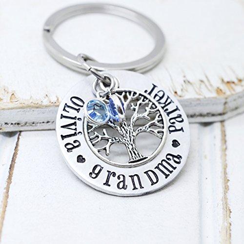 Custom-Key-Chain-Gift-For-Grandma-Family-Tree-Keychain-with-Kids-Names-and-Birthstones-0
