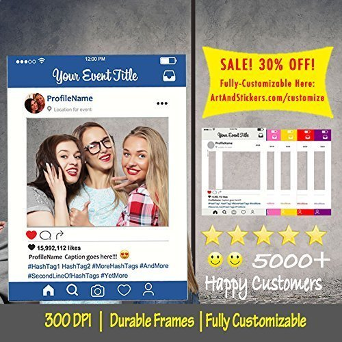 Customized-Instagram-Frame-Cutout-Selfi-prop-Instagram-prop-for-Graduation-parties-birthday-weddings-bridal-shower-baby-shower-PRINTED-MOUNTED-SHIPPED-Multiple-Sizes-0