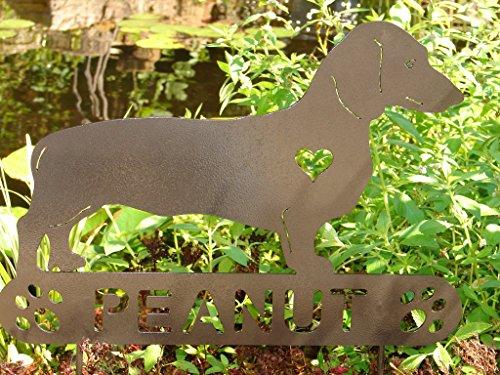 Dachshund-Personalize-Pet-memorial-Garden-Stake-Dog-Weiner-dog-0