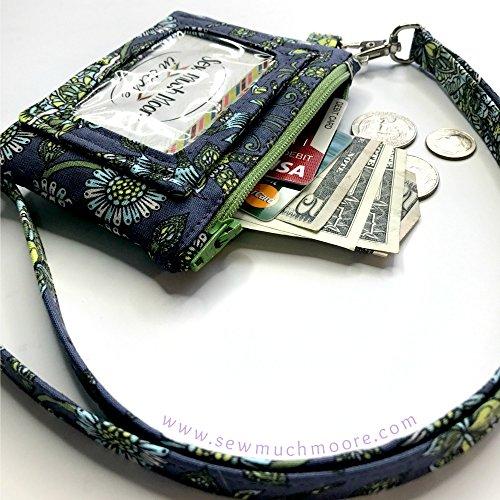 Deer-Buck-Tula-Pink-ID-Wallet-Lanyard-Badge-Holder-Cash-and-Coin-Purse-0