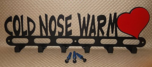 Dog-Leash-Hook-Hanger-Holder-Cold-Nose-Warm-Heart-Handmade-in-USA-165-Inch-Long-0
