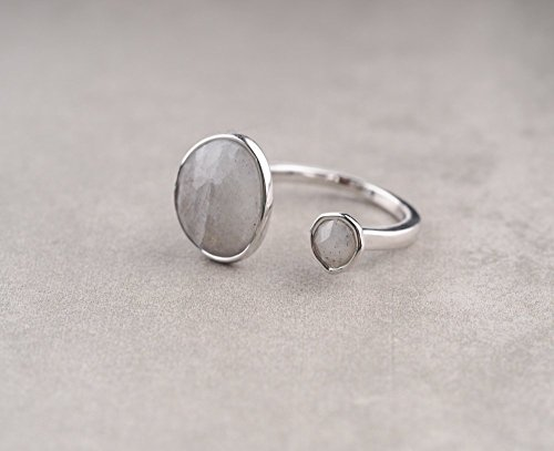 Double-Stone-Labradorite-Open-Circle-Gemstone-Silver-Plated-Ring-0