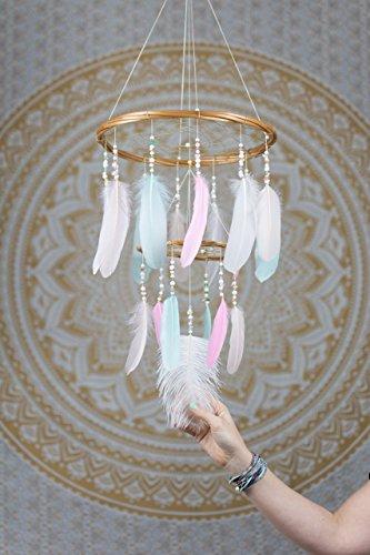 Dream-Catcher-Mobile-Large-Pastel-Chandelier-12x18Inches-Dreamcatcher-Mobile-Dreamcatcher-Mobile-Bohemian-Dream-Catcher-Nursery-Mobile-Baby-Mobile-Boho-Decor-Wedding-Decor-0