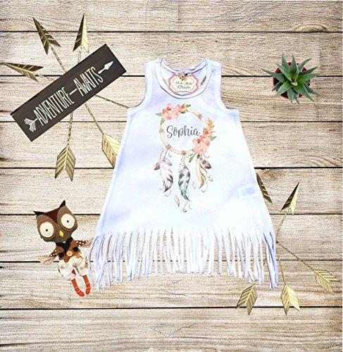 Dreamcatcher-Fringe-Dress-with-Name-Custom-Dress-Boho-Dress-Baby-Boho-Clothes-Personalized-Dress-Boho-Outfit-Boho-Fringe-Dress-Bohemian-Dress-Girl-Boho-Dress-0