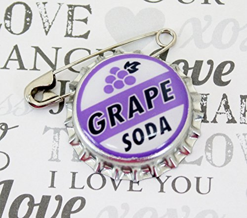Ellie-Badge-Grape-Soda-Pin-LP-Personalized-Bottle-Cap-Wedding-Groom-Gift-0