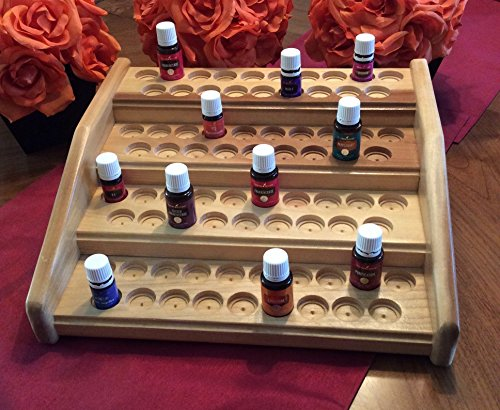 Essential-oil-rack-holder-EO-storage-stand-for-76-bottles-oil-organizer-w-dual-bottle-sizing-EO-display-for-5ml-and-15ml-bottles-4-colors-Great-fit-for-Young-Living-or-doTerra-oils-0