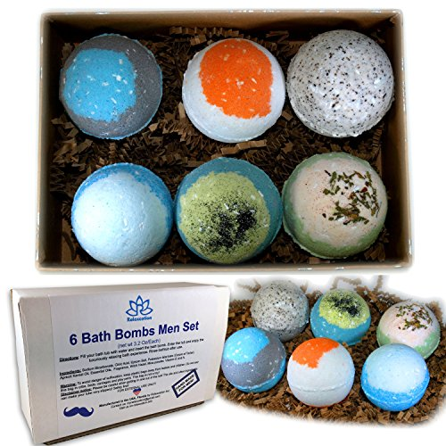Fathers-Day-Bath-Bombs-For-Men-Relaxing-Epsom-Salt-Organic-Essential-Oils-Handmade-In-USA-Perfect-Gift-Set-For-Men-Husband-Dad-Father-0