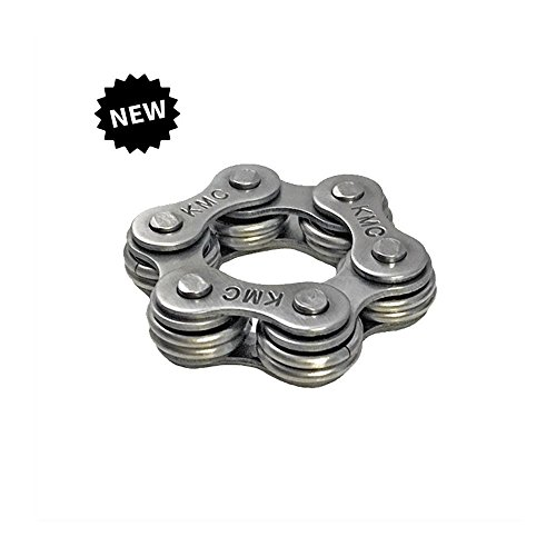 Fidget-Toy-Stress-Toy-Stim-Toy-Bike-Chain-Star-w-Stainless-Steel-Rings-0
