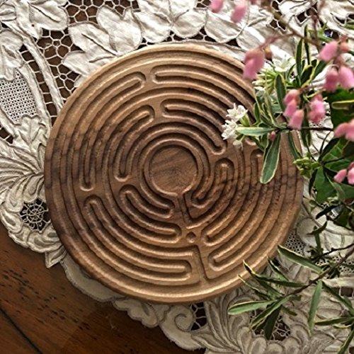 Finger Labyrinth Santa Rosa Labyrinth 169 Deisgn Walnut Wood