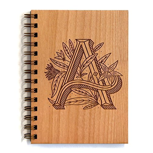 Floral-Monogram-Laser-Cut-Wood-Journal-Multiple-Letters-Available-Notebook-Birthday-Gift-Gratitude-Journal-Mothers-Day-Gift-Handmade-0
