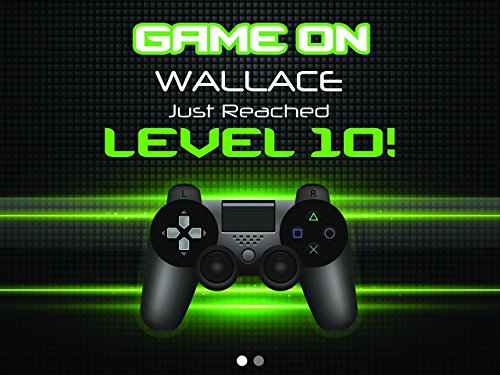 Game-Control-Poster-Video-Game-Custom-Wall-Decor-for-Birthday-Banner-Party-Decoration-Green-Neo-Background-Clear-Box-Style-Concept-sizes-36x24-48x24-48x36-0