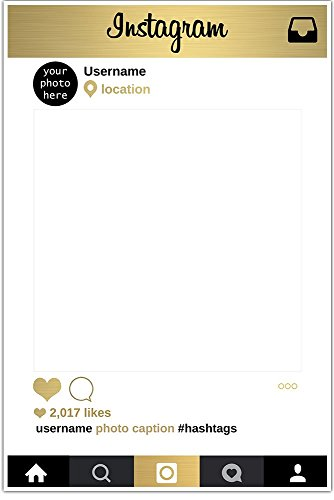 Gold-and-Black-Selfie-Frame-Social-Media-Photo-Frame-DIY-Booth-Prop-Party-Customized-Poster-0