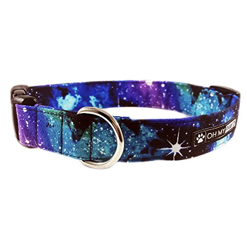 Hand-Made-Dog-Collar-Galaxy-Print-Collar-for-Pets-Size-Large-1-and-Wide-15-23-Long-by-Oh-My-Pawd-0